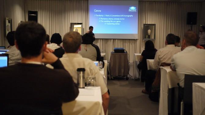 Kevin Shaninian giving presentation.