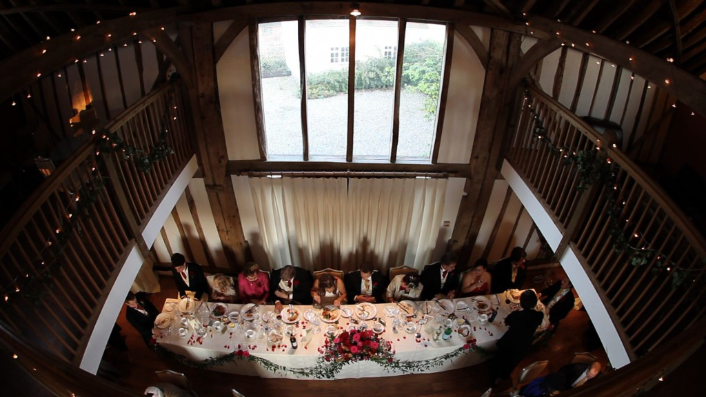 Fish-eye of top table