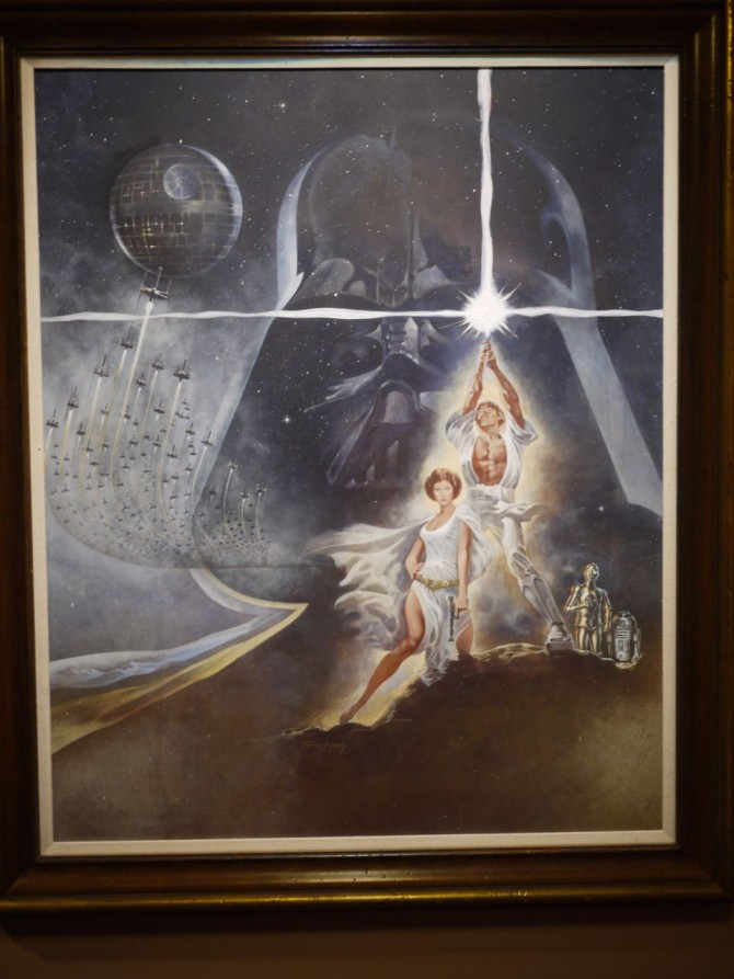 Original poster art in the main house