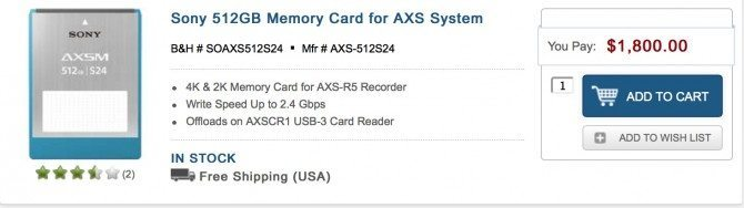 512gb for the Sony system