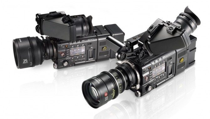 Sony F5 on left and F55 on right. You can tell only from the colour of the lens mount. Silver is F55.