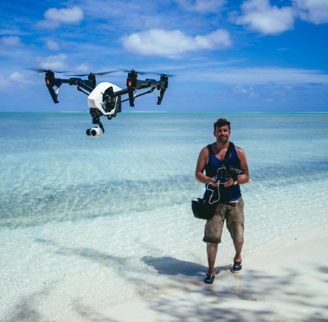 Filming with the Inspire 1 for CNN's The Wonder List in Vanuatu. One of the rare times I have been able to use drones on commercial gigs.