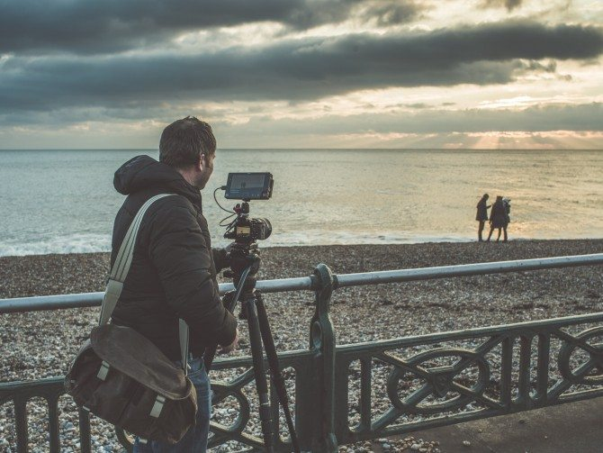 James shooting his Sony A7s & Atomos Shogun