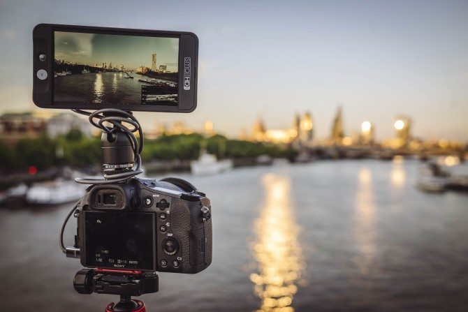 RX10 II with Small HD 502 on Waterloo Bridge