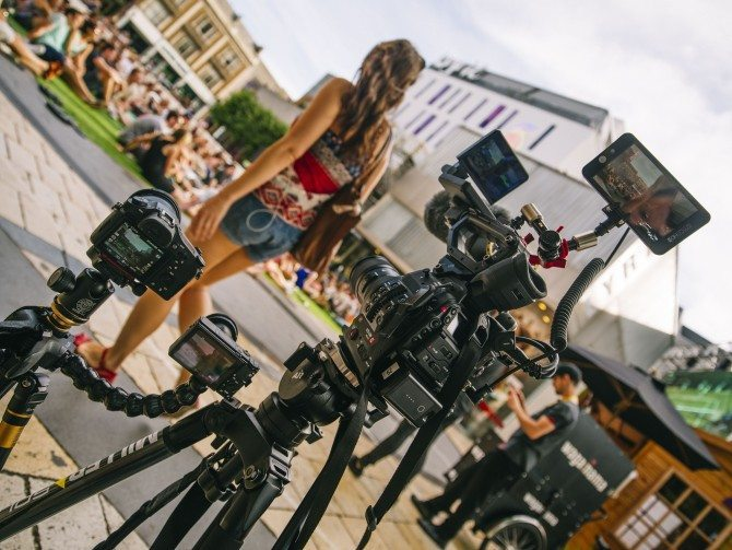 Sony RX100 IV and RX10 II with Canon C300 MK 2 filming in Hammersmith, London