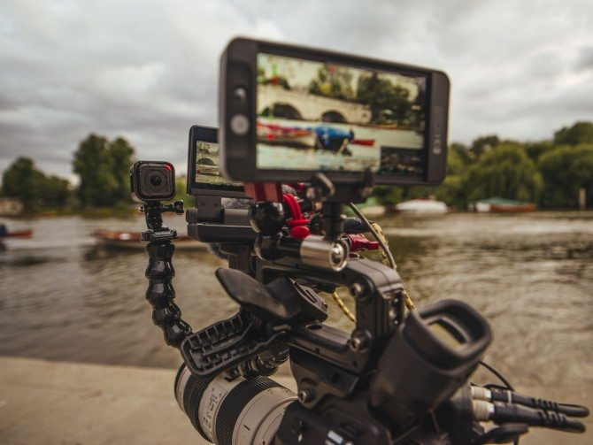 GoPro Hero 4 Session giving me a little BTS camera whilst filming in Richmond