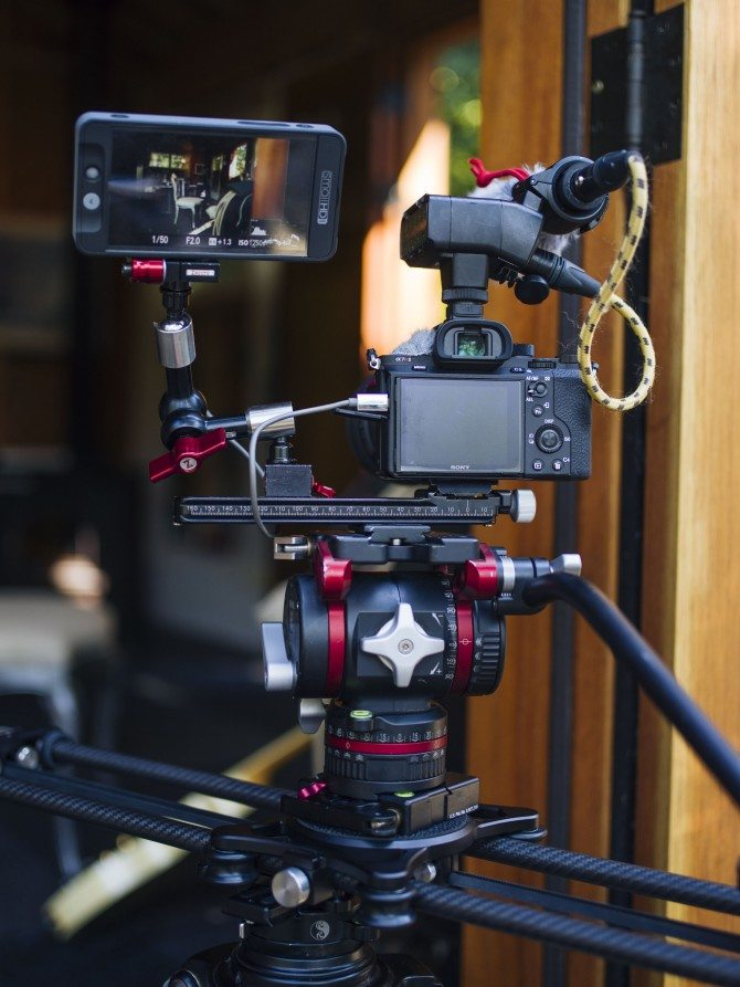 "A7R II shooting ""The Wonder List"" on the amazing Rhino EVO 24"" slider"