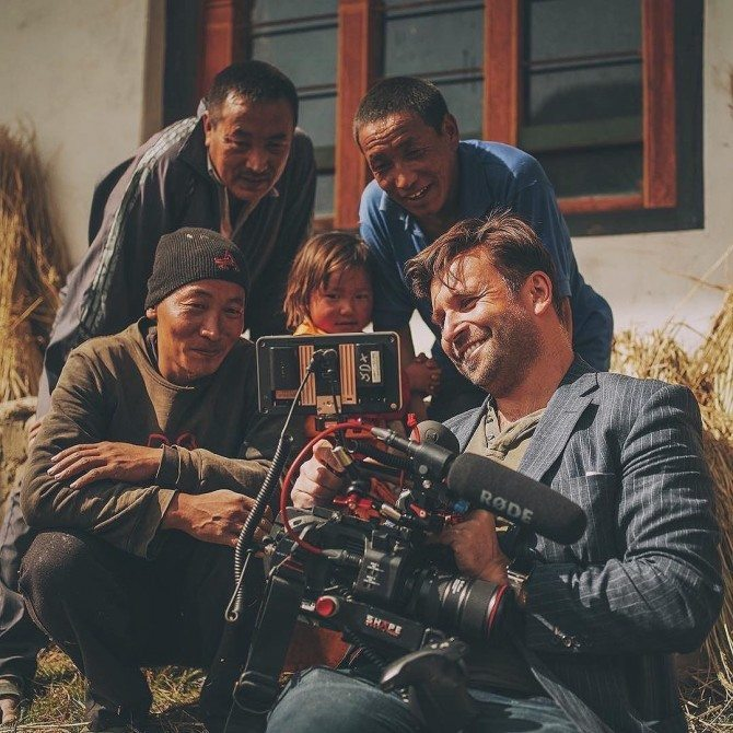 Showing some locals in Bhutan what I had just filmed of them on my FS7