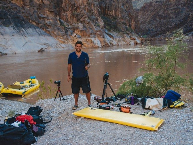 Timelapse set up whilst camping in the Grand Canyon