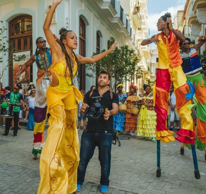 Letus Helix at a street party in Havana, Cuba