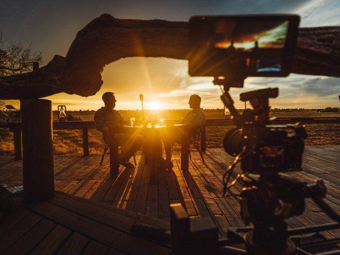 3 camera interview in Botswana