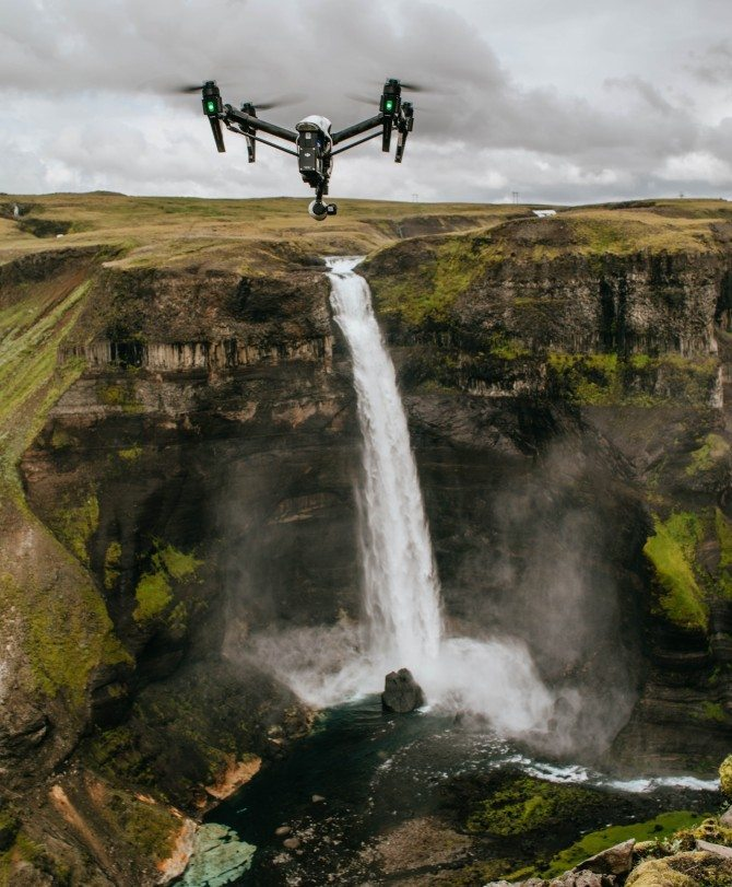 Inspire 1 drone in Iceland