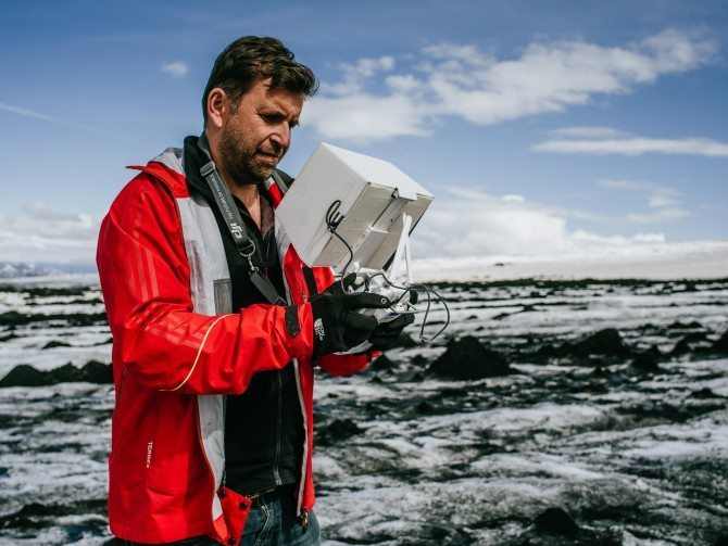 Flying the Inspire 1 in Iceland for The Wonder List using their controller and my iPad with hood