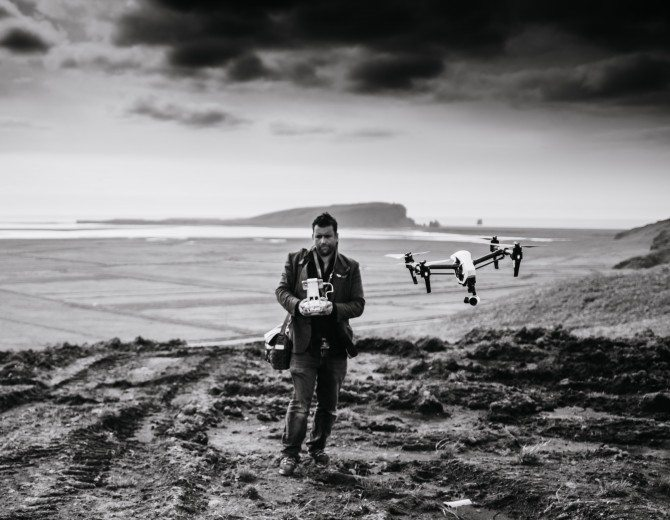 "Inspire 1 on location in Iceland for ""The Wonder List"""
