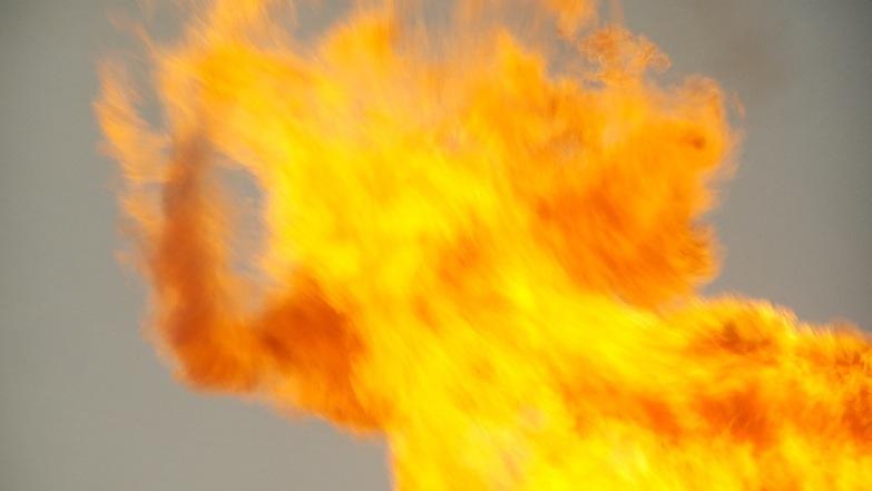 Screen grab slow motion flames
