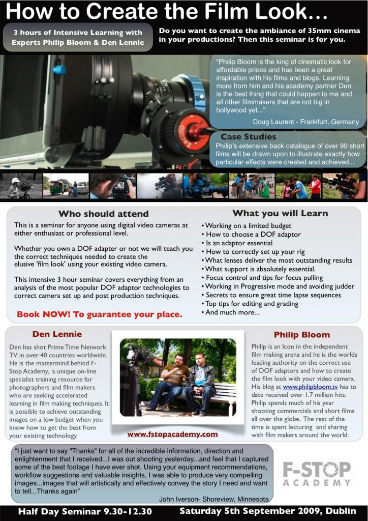Learn the film look - Dublin