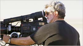 George Lucas with the F23 on Episode 2