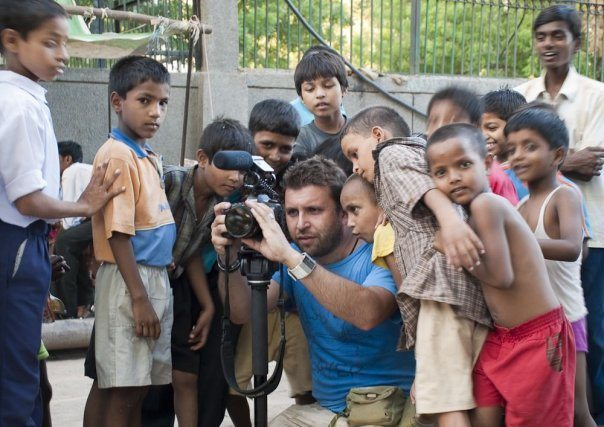 Shooting the Greenpeace commercial in Delhi