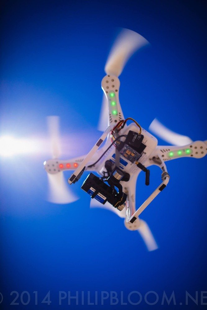 Phantom 2 with ZenMuse 2 axis gimbal and GoPro hero 3+