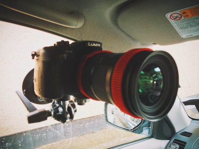 Mounted in my car with the Sigma 18-35mm F1.8