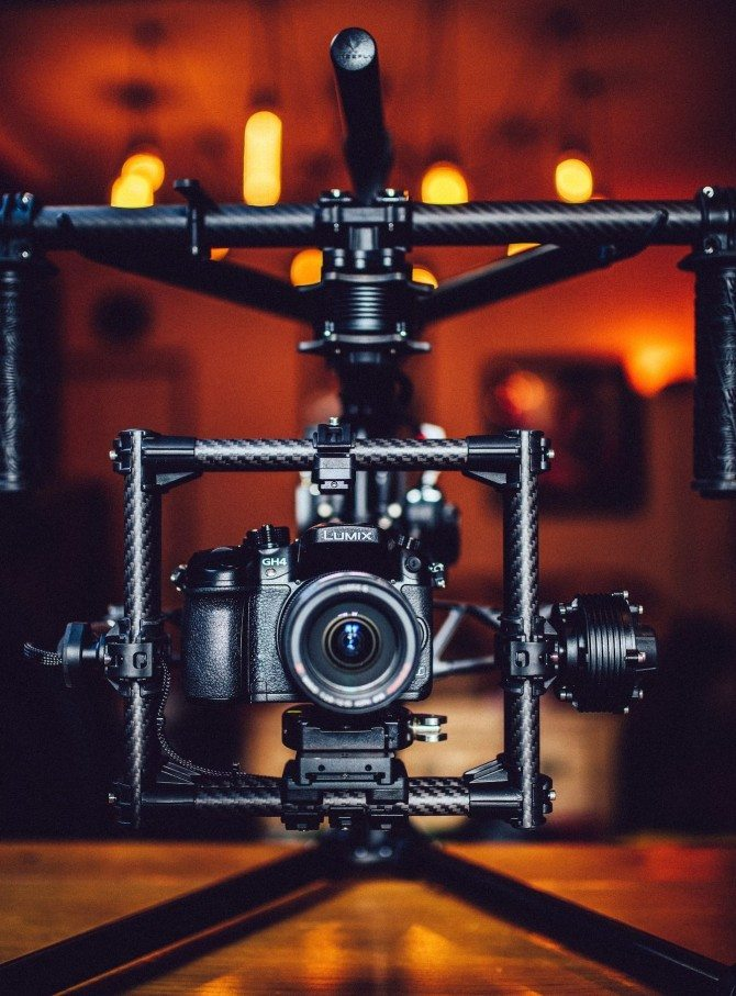 The GH4 on the excellent Movi M5. More on this in the video review