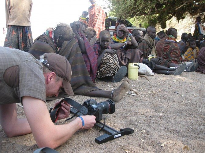 Chris with 5D in Kenya