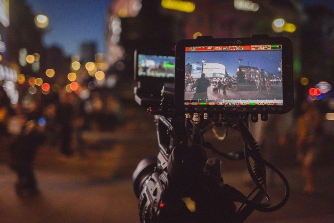 Convergent Design Odyssey 7Q+ with C300 Mk2 at Piccadilly Circus