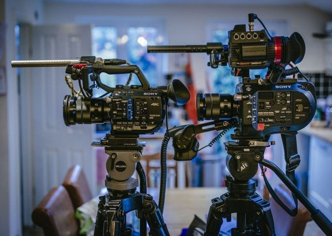 The new FS5 on the left and my FS7 on the right