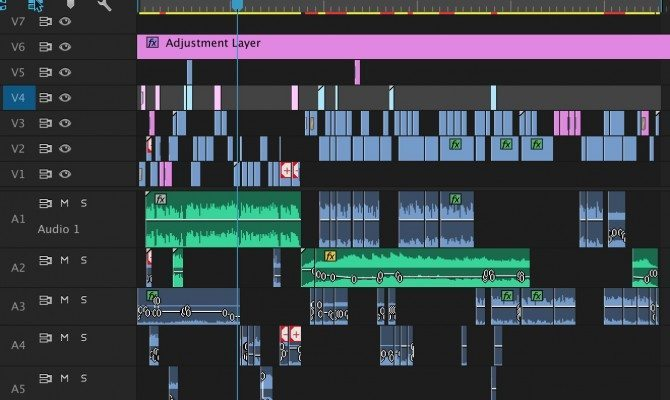 My premiere sequence for the edit.